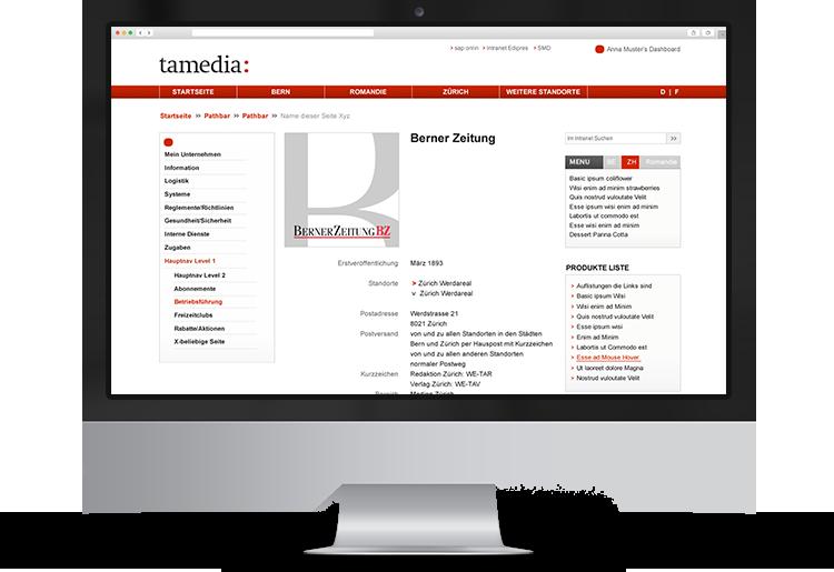 Portfolio-Intranet-Tamedia-BZ