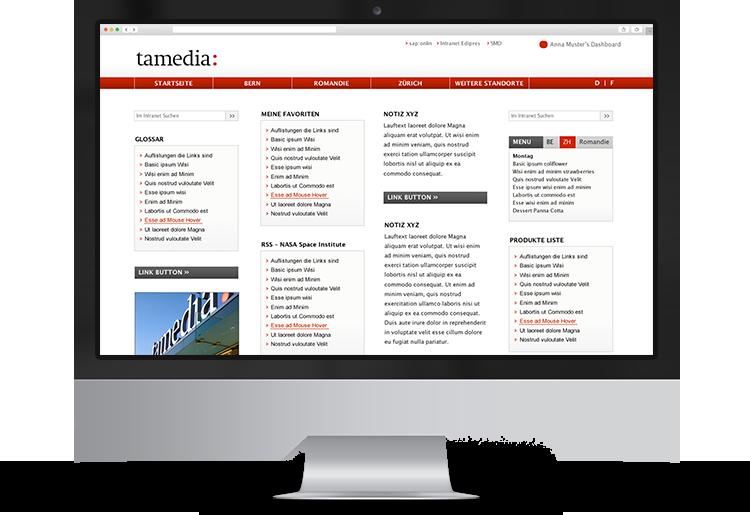 Portfolio-Intranet-Tamedia-Dash