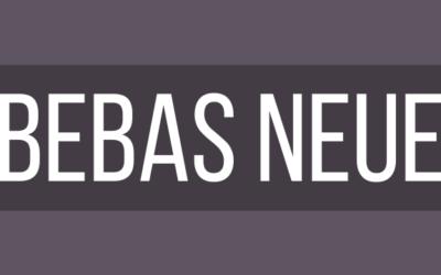 BEBAS Neue Web Font