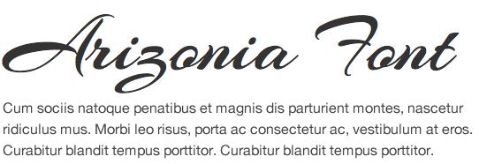 script-fonts-Google-Arizonia