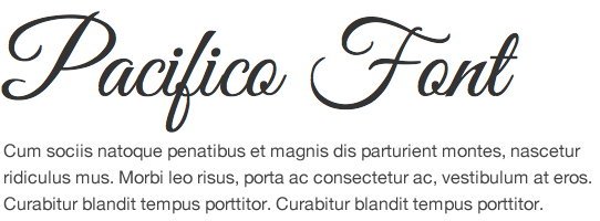 Google Font Pacifico
